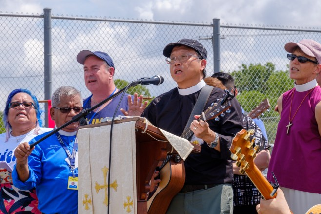 Prayers for Justice at T. Don Hutto Residential Center. Image: Gary Allman