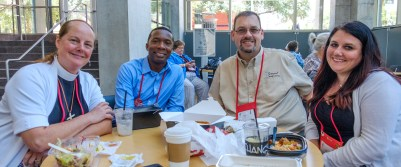 L-R. Susan Anslow Williams, Deon Johnson, Eric Travis - all from the Diocese of Michigan, and Liz Trader, The Diocese of West Missouri. Image: Gary Allman