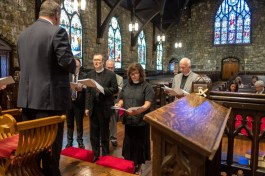 The Rev. Kim Taube and the Rev. Warren Swenson ordination rehearsal Image: Gary Allman