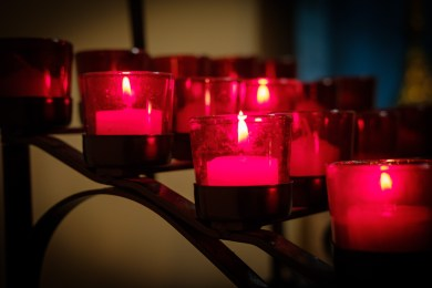 Votive Candles at St. Augustine's Image: Gary Allman