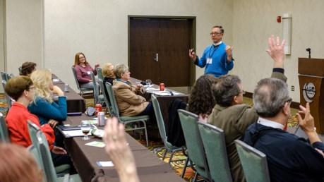 """Hands up everyone who has ..."" Image: Gary Allman"
