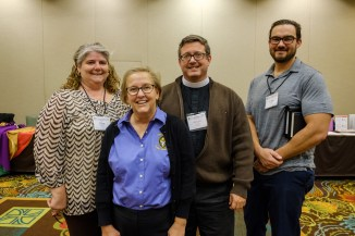 Kim Snodgrass (second from left) with delegates from Grace Carthage at the 2018 Diocesan Convention. Image: Gary Allman