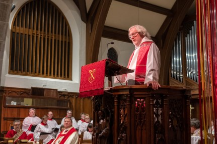 Homily delivered by the Rev. Dr. James Farwell. Image: Gary Allman