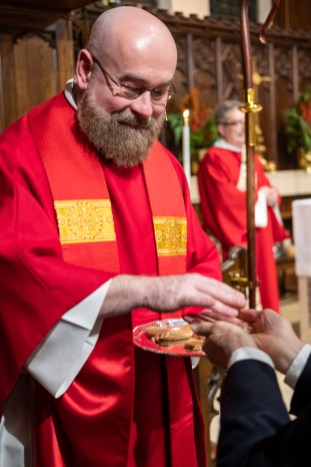 Fr. Jeff's first Holy Eucharist as a priest. Image: Gary Allman