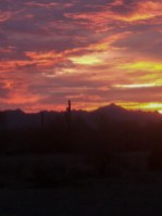 Sunset. Image credit: Carolyn B Thompson
