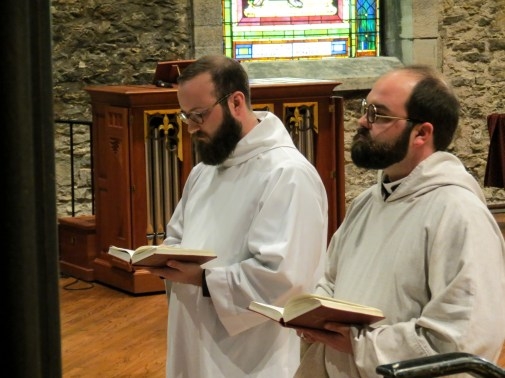 The ordinations into the Transitional Diaconate of James Yazell and Joseph Pierjok at Grace and Holy Trinity Cathedral on March 24, 2019. Image credit: Donna Field