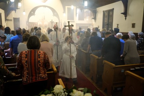 Easter Vigil & Baptisms at Grace Episcopal Church Carthage, Missouri. Saturday April 20, 2019. Image credit: Gary Allman