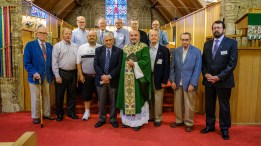 Installation of the new Brotherhood of St. Andrew chapter at St. Peter & All Saints, Kansas City. Image credit: Gary Allman