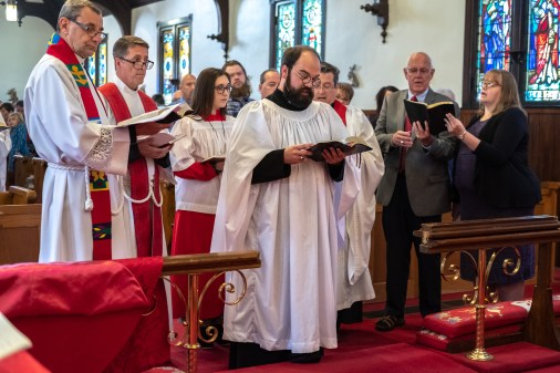 On Saturday October 12, 2019, Grace Episcopal Church, Carthage hosted the Ordination to the Sacred Order of Priests of the Rev. Joseph Anton Pierjok. Image credit: Gary Allman