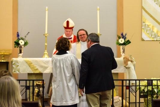 Celebration of a New Ministry the Rev. Robin James, Grace Episcopal Church, Liberty, Missouri. Image credit: Donna Field
