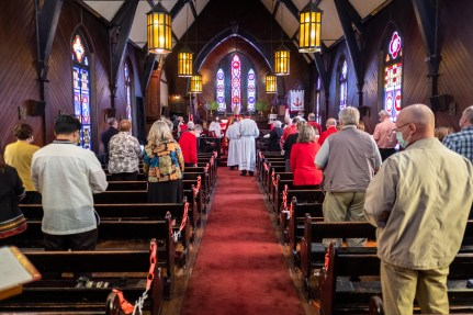 On Saturday, March 27, 2021, Michael Richard Johns was ordained into the Sacred Order of Deacons at Grace Episcopal Church, Chillicothe. Image credit: Donna Field