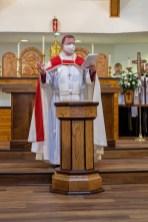 Dedication of the Baptismal Font. Re-Dedication and Consecration of St. James Episcopal Church, Springfield, Missouri. Image credit: Gary Allman
