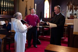 The Rehearsal - The Installation of the Rev. James Harris as Priest in Charge, All Saints' Episcopal Church, West Plains, Missouri. Image credit: Gary Allman