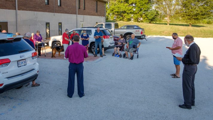 Evening Prayer - Taken from the Daily Devotions for Individuals and Families, with an added Parking lot blessing. Image: Gary Allman