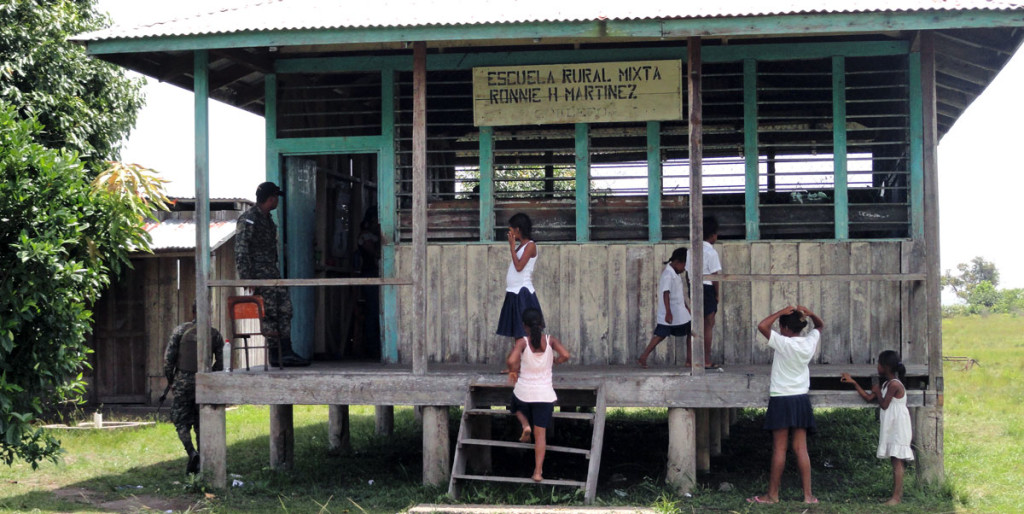 A typical school in the Gracias a Dios region