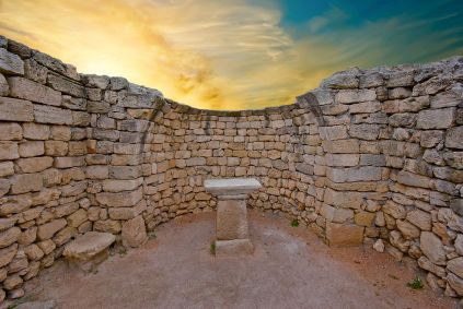 Ruins of a Greek altar
