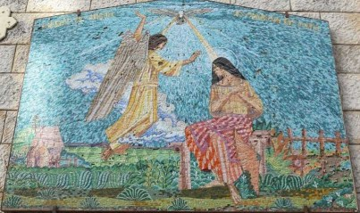 The unexpected visitor, the angel Gabriel announcing to Mary.