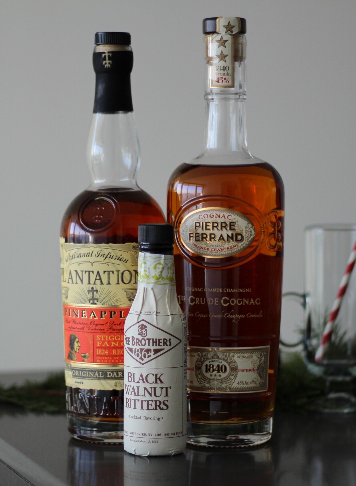 Ingredients for the Improved Fruitcake Cocktail