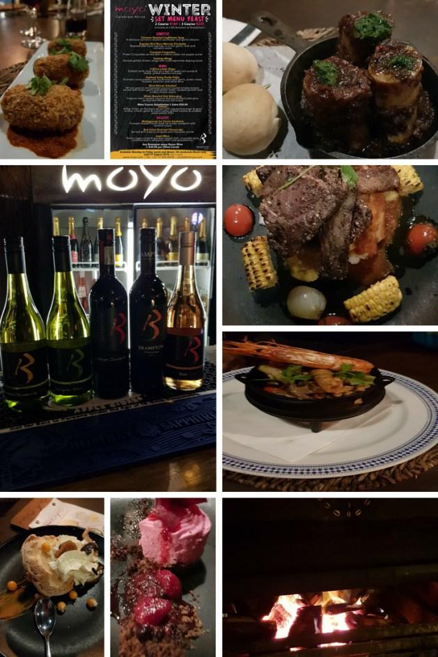 Moyo Zoo lake winter set menu feast