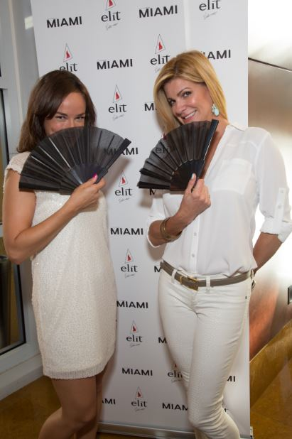 Meagan Sacher, Global Brand Amabassador for Stolichanya and Lizette Garcia, South Florida Market Manager for Stoli Group USA