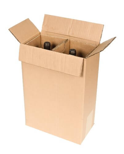 shipping box for two magnum wine bottles
