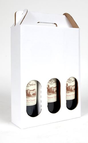 wine carrier for three bottles