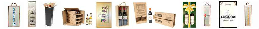 Various types of wine shipping boxes and supplies offered by Spirited Shipper