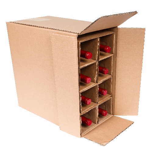 Eight bottle wine bottle shipper from Spirited Shipper
