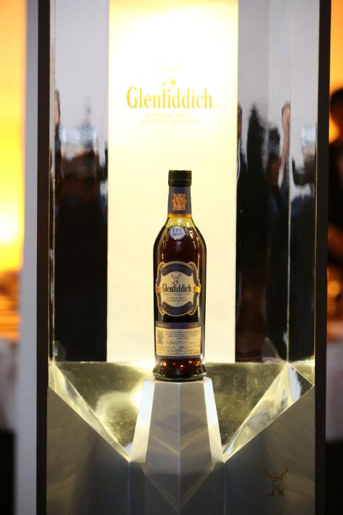 A bottle of Glenfiddich Anniversary Vintage