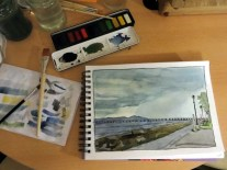 I've loved getting the watercolours out, even if they don't always do what I'd like them to.