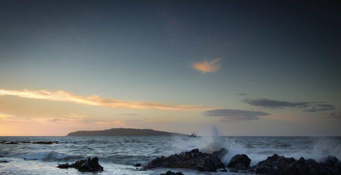 Lambay Island from the rocks Dublin