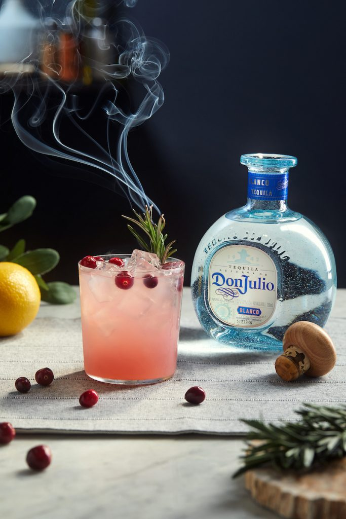 Don Julio Cranberry Rosemary Margarita - Winter Cocktails 2020 Holiday