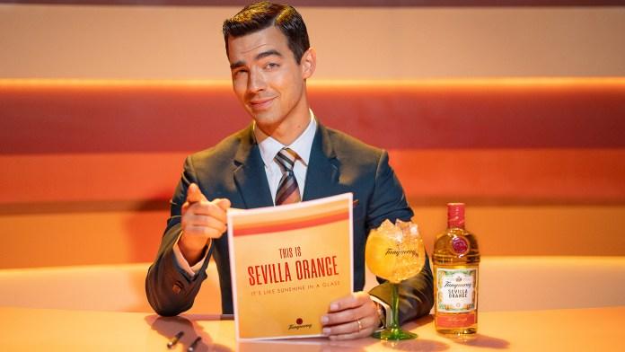 Joe Jonas Tanqueray Sevilla Orange Gin