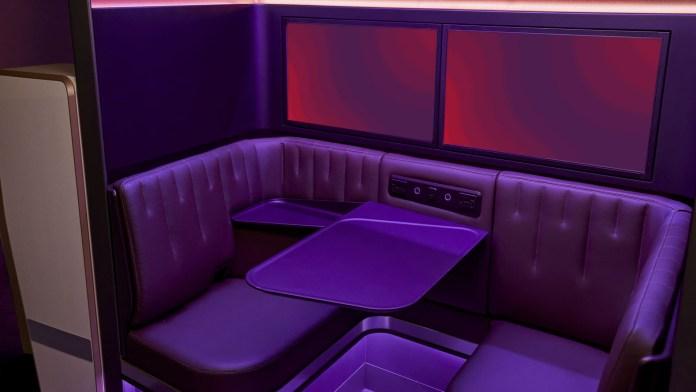 Virgin Atlantic The Booth purple