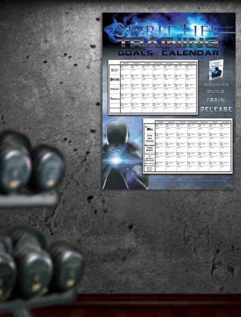 Spirit Life Training 70 day Goals Calendar Poster display