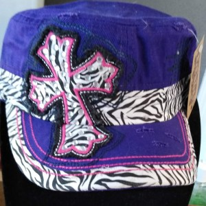 0bb7cf907894b Baseball Caps-Purple Zebra Cross