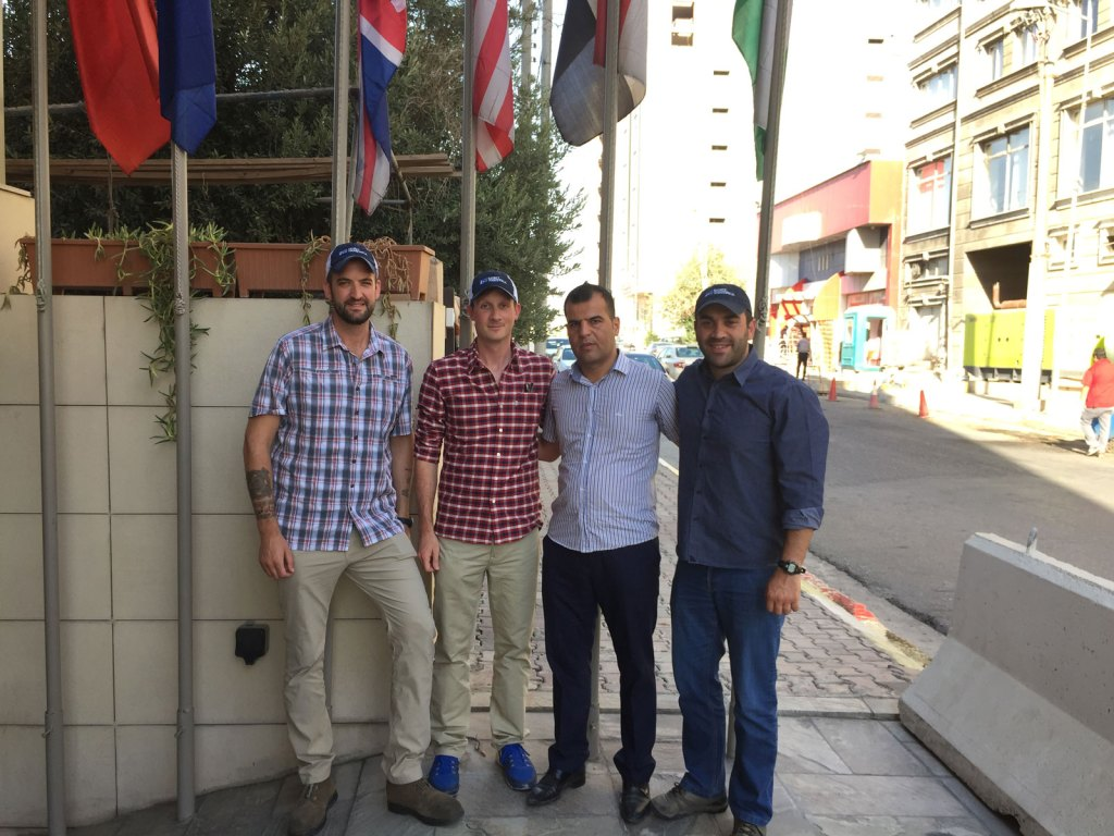 SoA's Isaac, Gabe, and Zack meeting with Captain Dilgash in Erbil