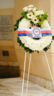 The wreath presented by the Singapore Armed Forces