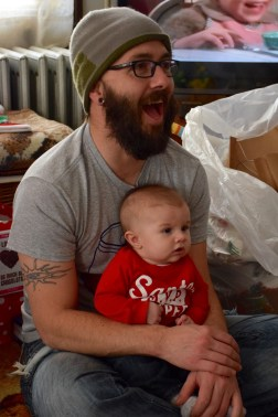 Uncle Joe and Colt in the now watching Taylor