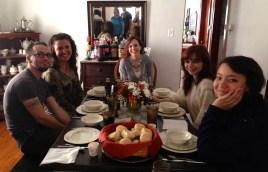 Enjoying dinnertime with family