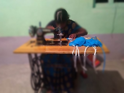 india lady sewing school