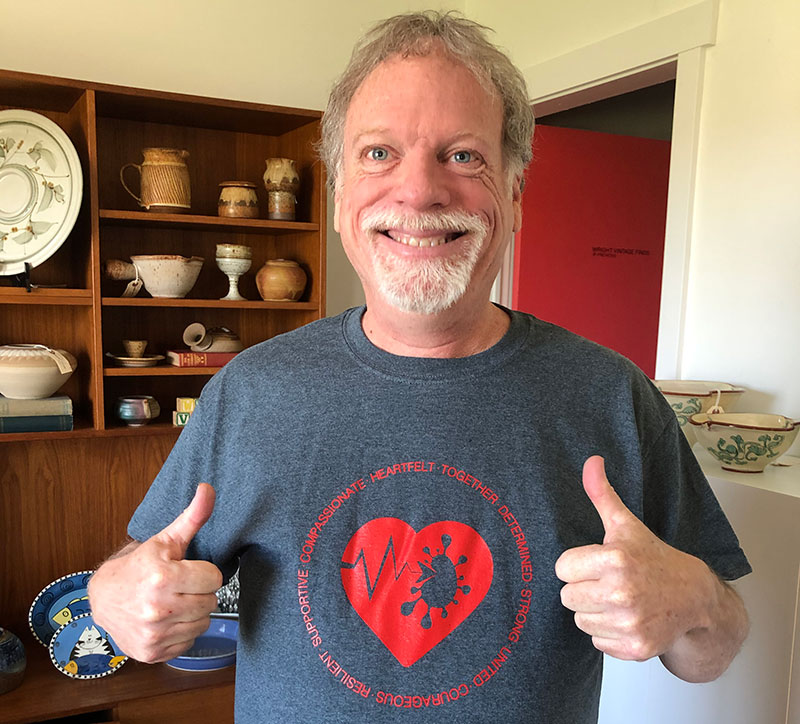 Charles Funnell with tshirt