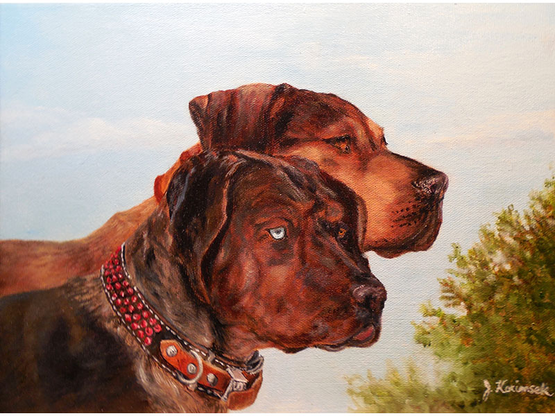 "Emmy and Mac 9""x12"" by Josie Korimsek"