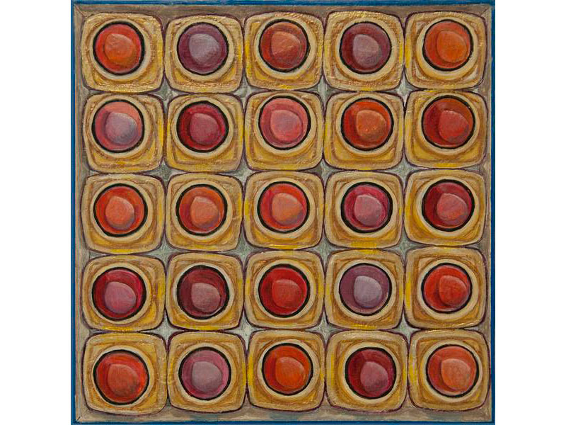 Lipstick Grid by Barbara Bickell 8 x8 inches