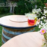 barrel as Guest Book in Tuscany