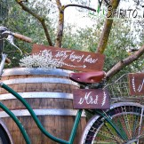 Wedding Signs in Tuscany rustic