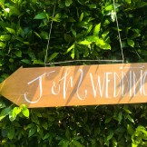 Tuscan Wedding Sign Arrow Spirito Toscano NL 1