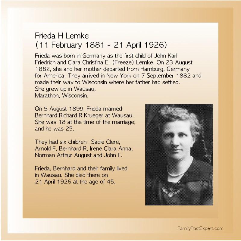 Frieda Lemke (1881-1926)