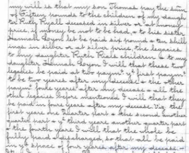 Will of Thomas Tolman - bequeath to Hannah - 2W (03)