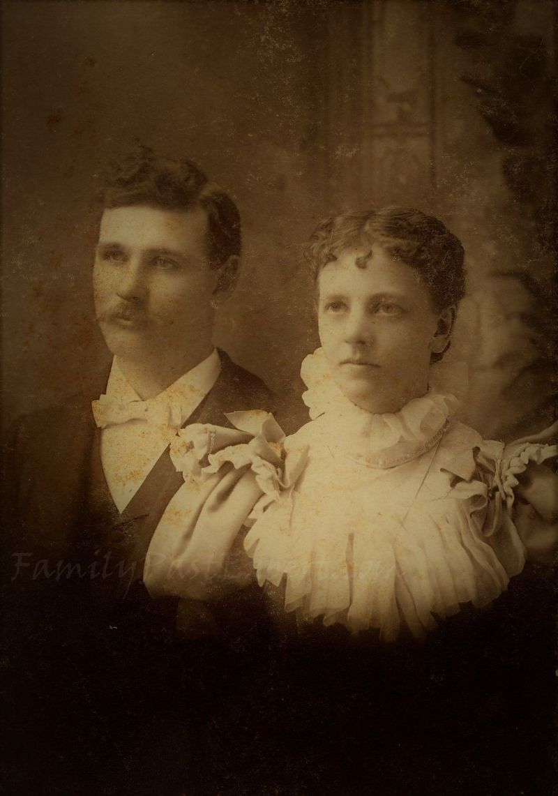 Mary Leona Stolp and Frank Palmer Miller, marriage